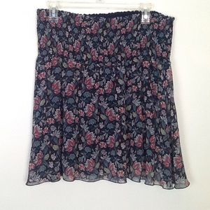 Cabi floral swingy mini skirt in Large